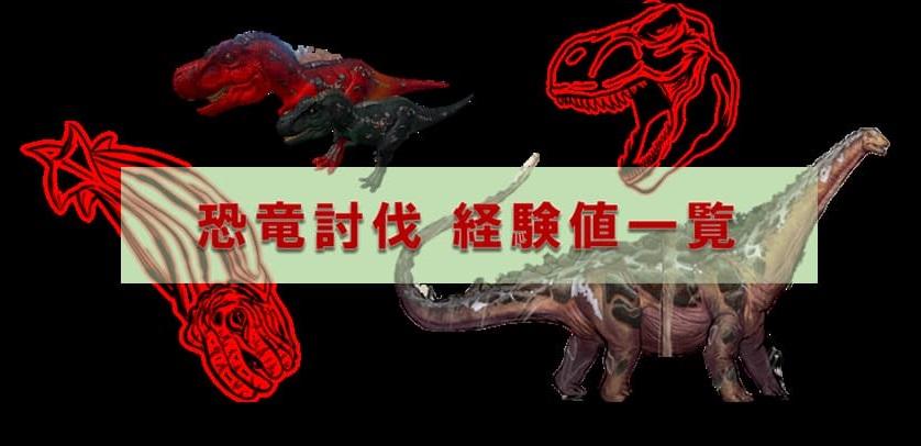恐竜を倒したときの経験値一覧 | ARK mobile