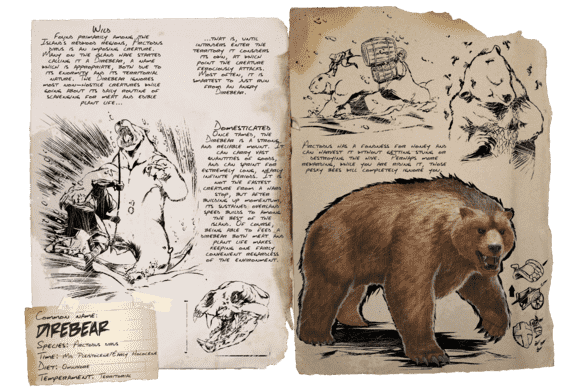 ARKモバイルのダイアベア(Dire Bear) | 基本情報やキブル・テイム方法・出現場所など