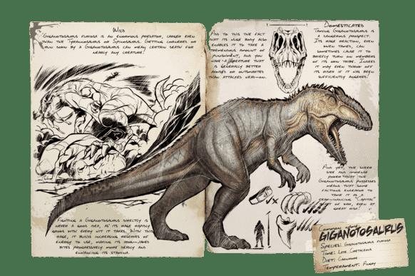 ギガノトサウルス | ARK mobile